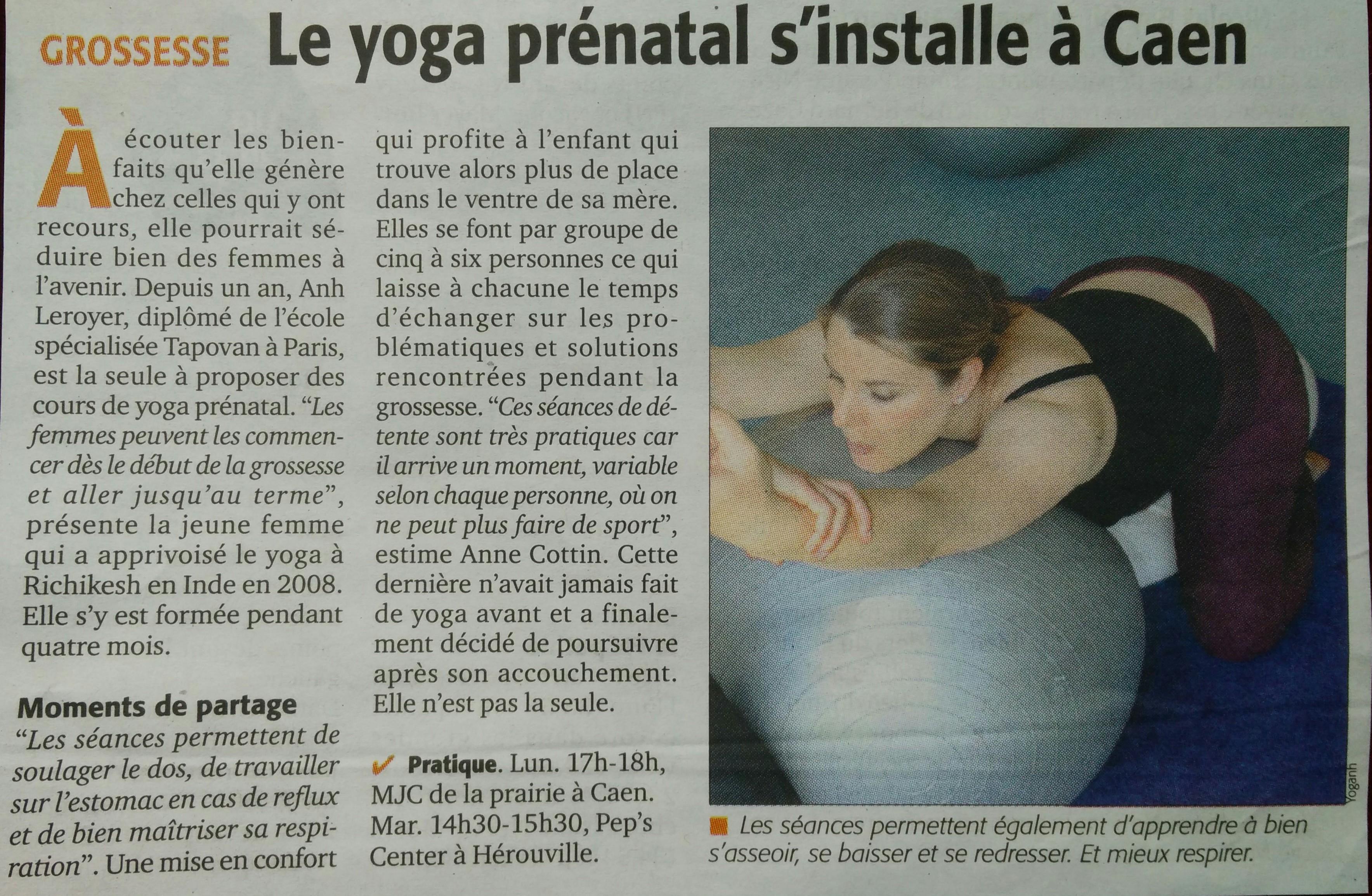 yoga prénatal presse